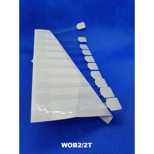 Plastic Transparent Small Shelf Wobblers with Adhesive Pads WOB2/2T - Hang and Display