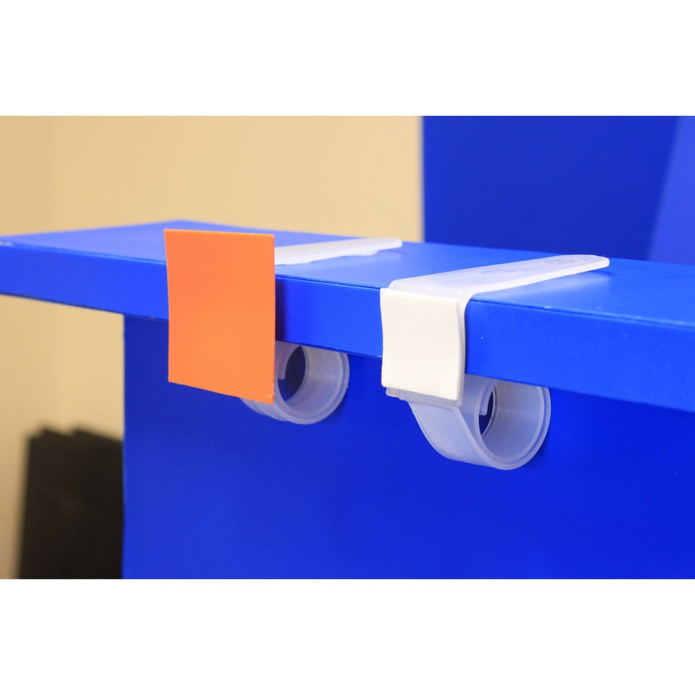 Point of Sale Snail Clip with Adhesive and Sprung Coil CLI22-Shelf & Data Strip Aisle Blade Holders-Hang and Display