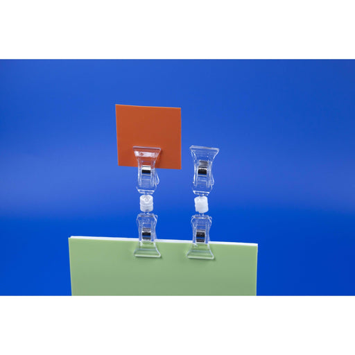 POS Ticket Holder with Clips at both ends HP2100-Polystyrene Ticket Holders-Hang and Display