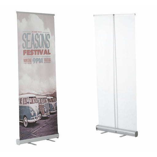 Retractable Banner Stand Indoor Pull Up Single Sided Roll-Up Banner