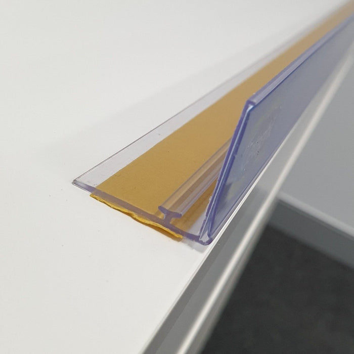 Shelf Stopper Data Strip Rail with T-Rail and Adhesive LAB17-Data Strip-Hang and Display