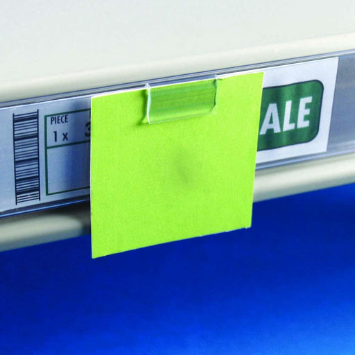 Shelf Talker Clip for Data Strips LAB30/25-Data Strip-Hang and Display