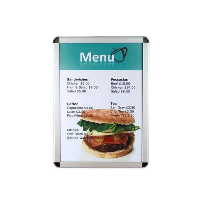 Snap Lock Aluminium Poster and Sign Frame Round Corners KAD1-Snap Frames-Hang and Display