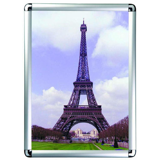Snap Lock Aluminium Poster and Sign Frame Round Corners KAD1 - Hang and Display