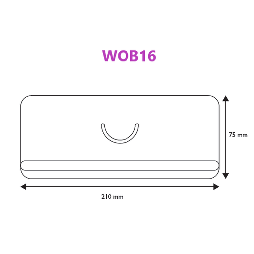 Specials Media Wobbler Insert for Data Strips WOB16-Ticket Holders-Hang and Display