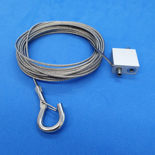 Steel Hanging Wire Cable with Snap Hook and Cable Loop Gripper-Ceiling Hanging Accessories-Hang and Display