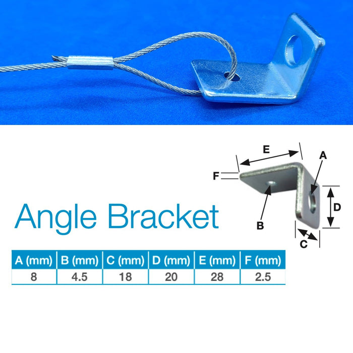 Steel Wire Hanging System Angle Bracket Eyelet with Gripple Fastener