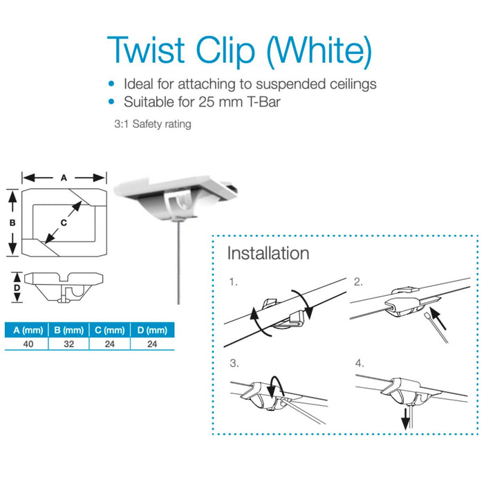 Steel Wire Hanging System Ceiling Clip with Adjustable Sign Panel Clamp