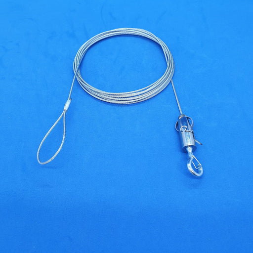 Steel Wire Hanging System Looped End with Adjustable Snap Hook