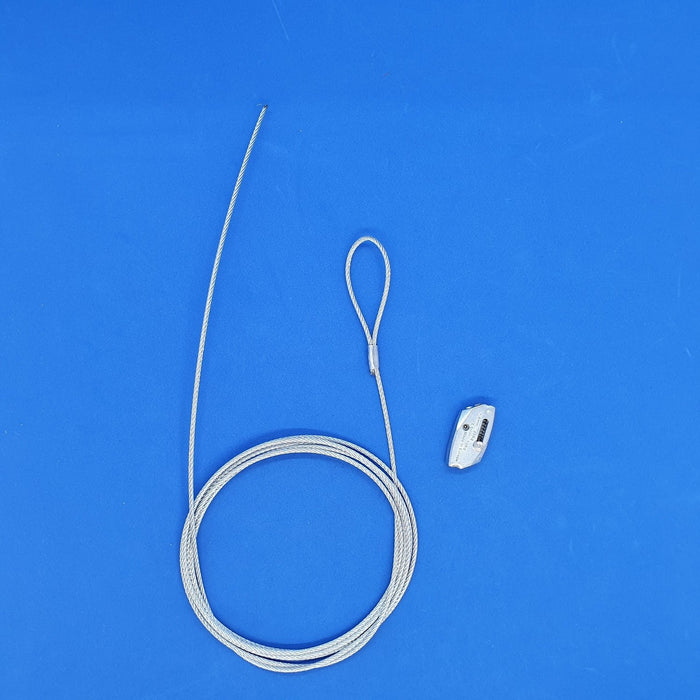 Steel Wire Heavy Duty Hanging System Looped End with Gripper Fastener