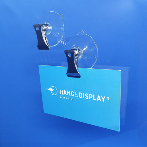 Suction Cup Transparent with Metal Clip SUC16 - Hang and Display