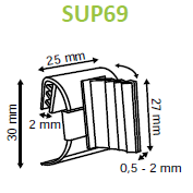 SuperGrip Adjustable Perpendicular Sign Holder for Data Strips and Shelves SUP69-Supergrips-Hang and Display