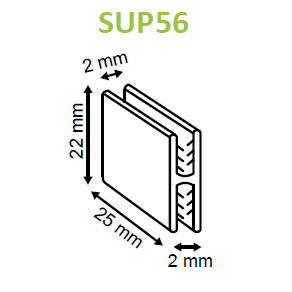 SuperGrip H Grip Panel Joiner SUP55 SUP56-Supergrips-Hang and Display