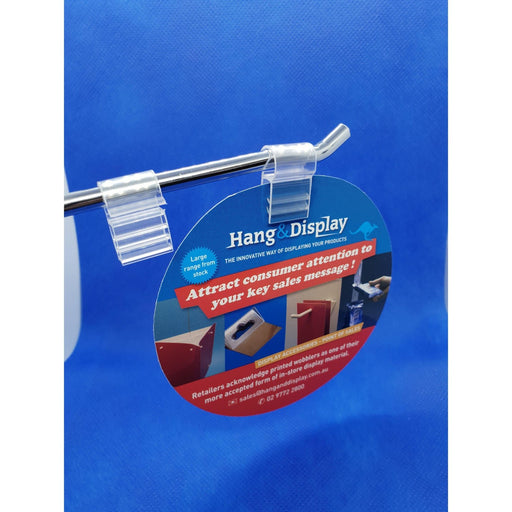 SuperGrip Hanging Sign Holder for Wire Basket, Grid Mesh or Hooks SUP47 - Hang and Display