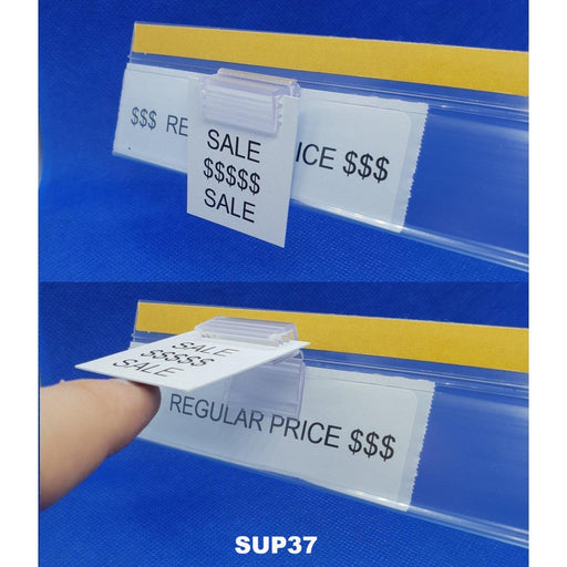 SuperGrip Parallel Sign Holder for Data Strips and Shelves SUP37 SUP38-Supergrips-Hang and Display