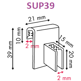 Supergrip Perpendicular Sign Holder for Data Strips and Shelves SUP36 SUP39 - Hang and Display