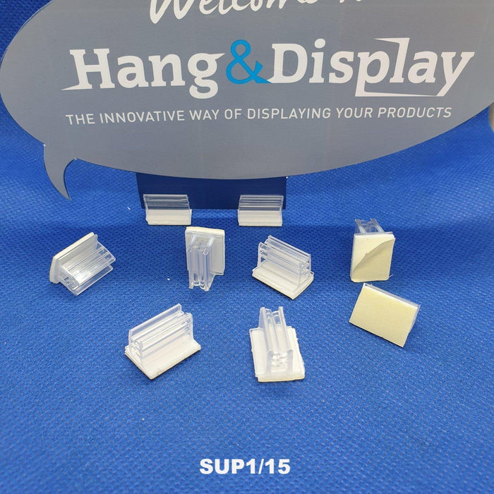 SuperGrip Sign Holder 12mm Adhesive Base 0.35mm to 2mm Capacity SUP1 SUP2-Supergrips-Hang and Display