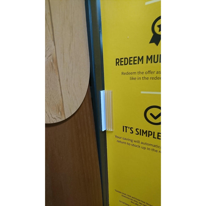 SuperGrip Sign Holder 20mm Adhesive Base 3mm to 5mm Capacity SUP8 SUP9-Supergrips-Hang and Display