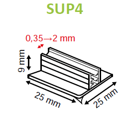 SuperGrip Sign Holder 25mm Adhesive Base 0.35mm to 2mm Capacity SUP4 SUP5-Supergrips-Hang and Display