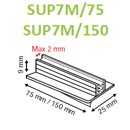 SuperGrip Sign Holder 25mm Magnetic Base up to 2mm Capacity SUP7M-Supergrips-Hang and Display