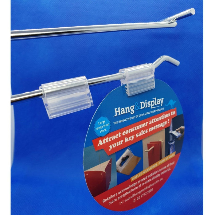 SuperGrip Snap-on Sign Holder for Wire Basket, Grid Mesh and Hooks SUP54-Supergrips-Hang and Display