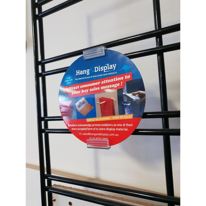 SuperGrip Upright Sign Holder for Wire Basket and Grid Mesh SUP49-Supergrips-Hang and Display