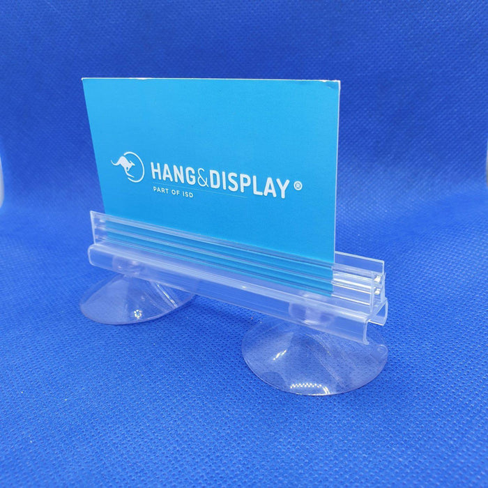 Two Suction Cups with SuperGrip Sign Holder up to 2mm Capacity SUP77-Supergrip with Suction Cup-Hang and Display