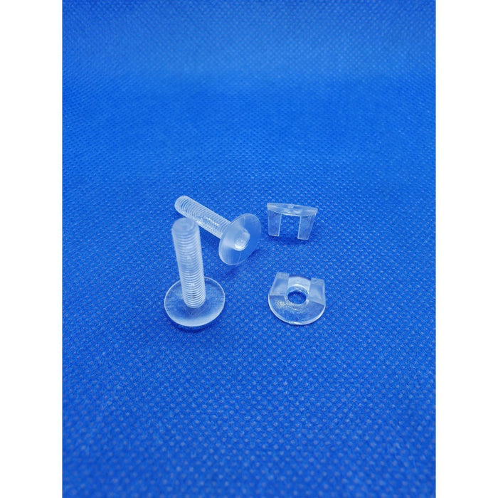 Viking Screw and Wing Nut Transparent Plastic DIS5-Screws, Ratchets and Rivets-Hang and Display