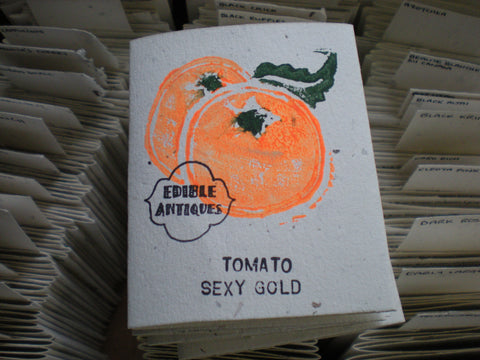 """Sexy Gold"" Tomato Seeds - Edible Antiques"