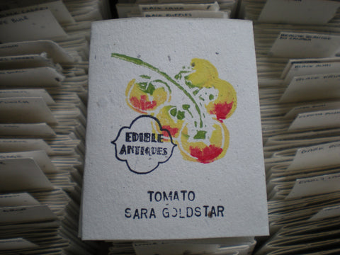 """Sara Goldstar"" Tomato Seeds - Edible Antiques"