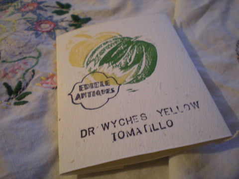 """Dr. Whyche's Yellow"" Tomatillo Seeds - Edible Antiques"