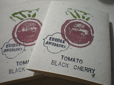 """Black Cherry"" Tomato Seeds - Edible Antiques"