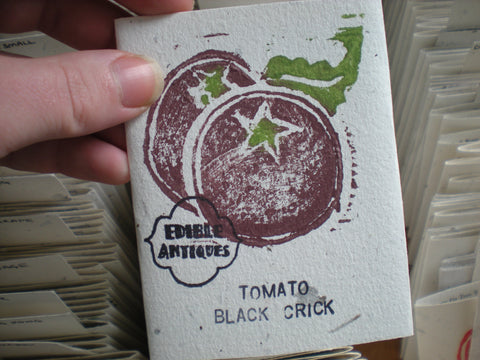 """Black Crick"" Tomato Seeds - Edible Antiques"