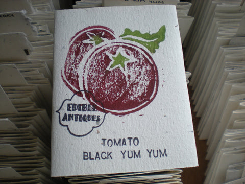 """Black Yum Yum"" Tomato Seeds - Edible Antiques"