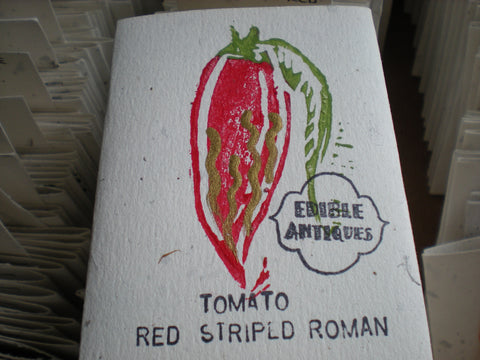 """Red Striped Roman"" Tomato Seeds - Edible Antiques"