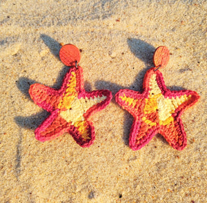 Sea star, earrings