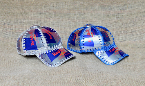 Energising mood, recycled cans hat