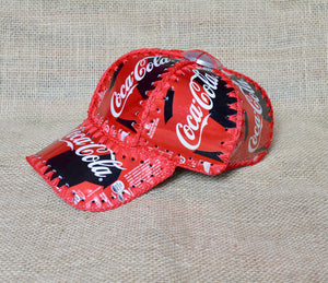 Upcycled cola, recycled cans hat