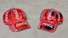 Load image into Gallery viewer, Upcycled cola, recycled cans hat