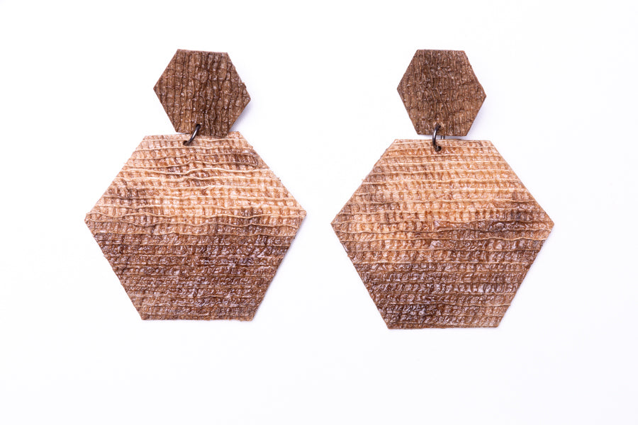 Hexa, earrings