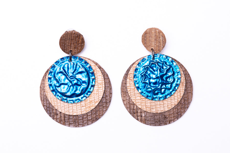 Deep blue, earrings
