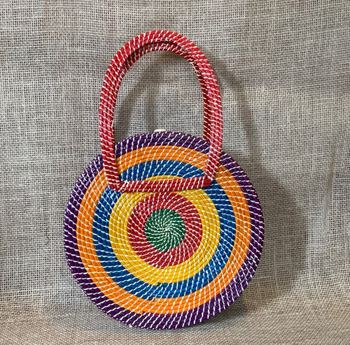 Multicolor disc, handbag
