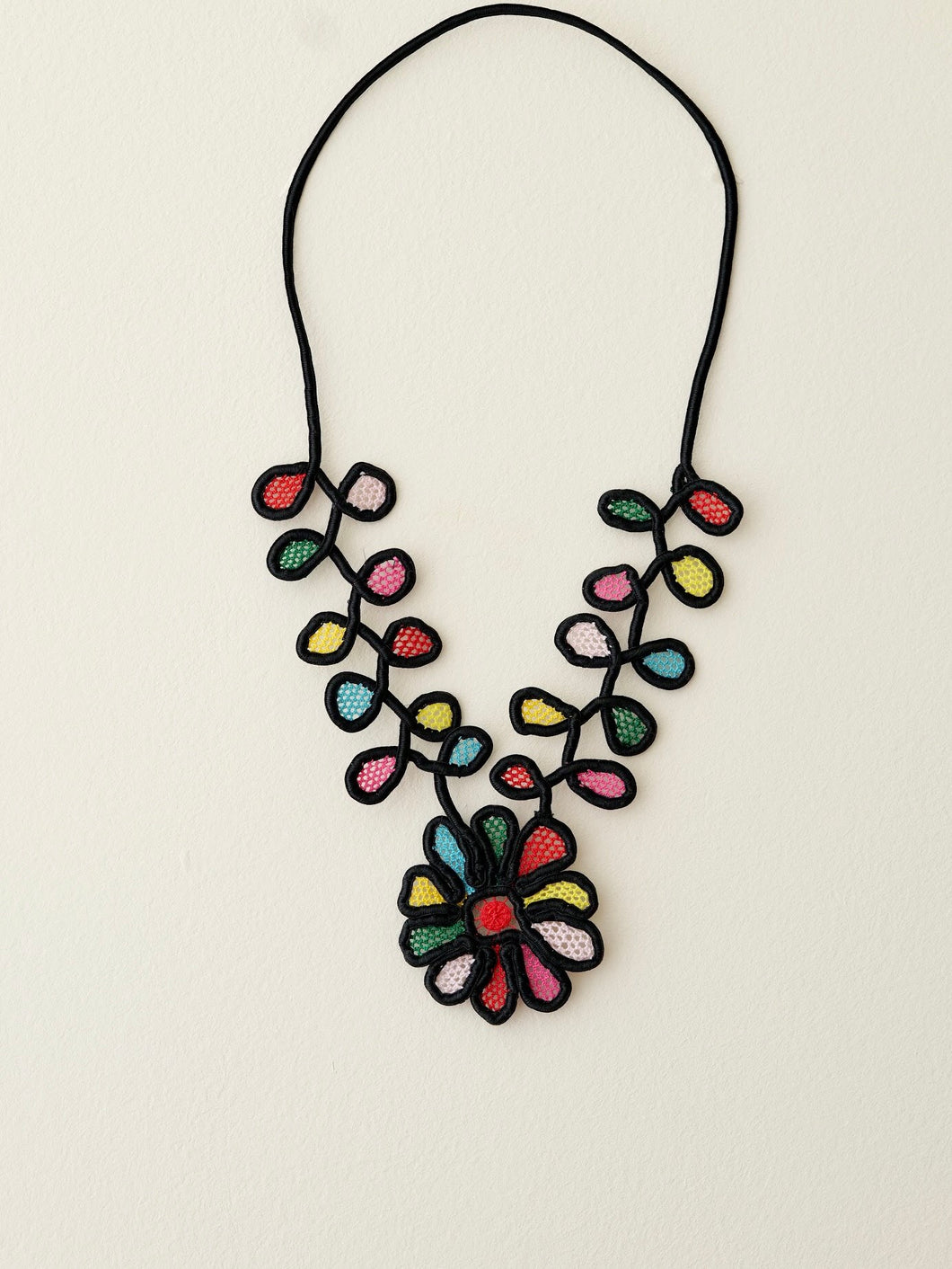 Baroque Garden, Irish lace necklace