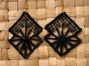 Bat, filé earrings