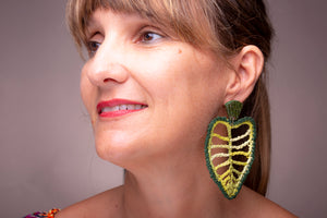 Leaf, earrings