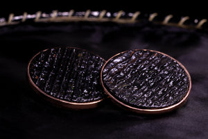 Black Bubbles, rose golden plated collection, earrings