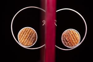 Bubbles, silver collection, earrings