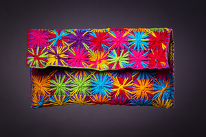 Colorful stars, clutch bag