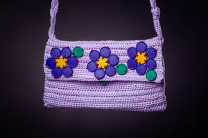 Upcycled , crochet bag