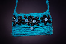 Load image into Gallery viewer, Upcycled , crochet bag